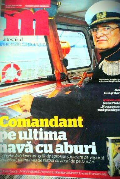 Pe coperta revistei Adevarul de duminica, ian. 2010