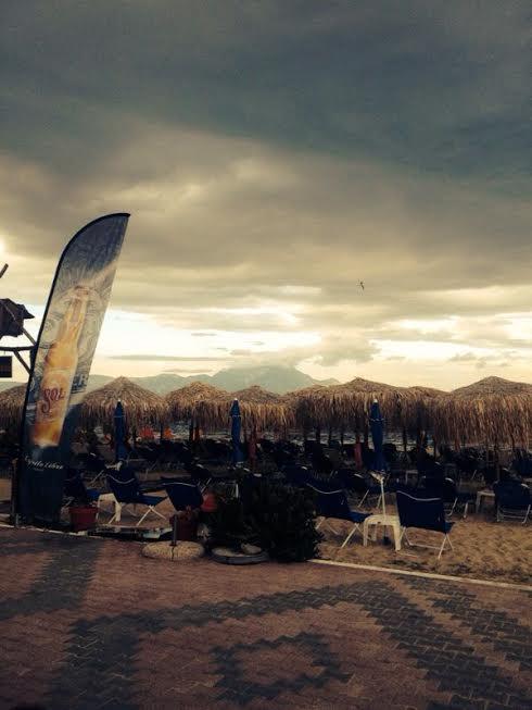 Peisaj cu muntele Athos, vesnic fumegand a nori