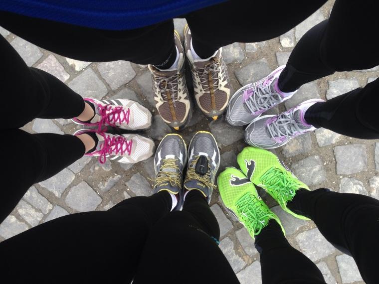 Semimarathon Brasov, aprilie 2013. In gasca, gata de distractie