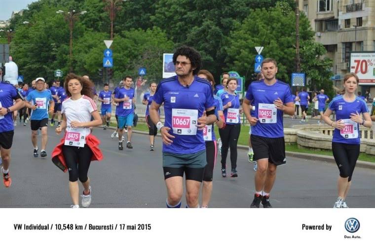 Semimarathon Bucuresti, mai 2015. Inca ma simt bine:-) Abia am pornit...