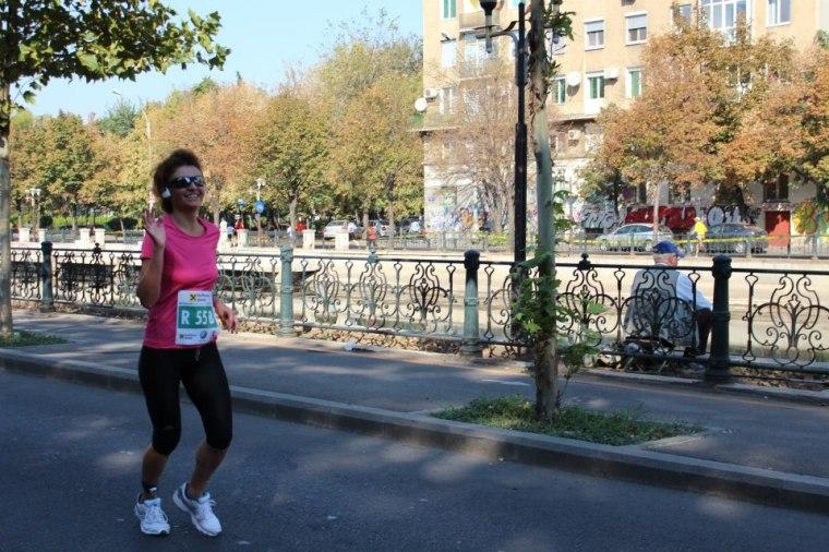 Marathon Bucuresti, oct. 2012, stafeta: singura cursa in oras in care m-am simtit bine si am avut si un timp bun :-)
