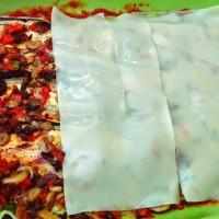 Lasagna vegana, cu foi din aluat integral sau cu mamaliga
